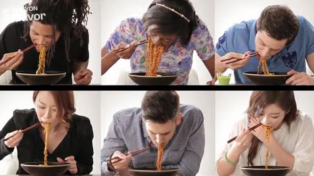 매운 라면 먹은 외국인들 반응
