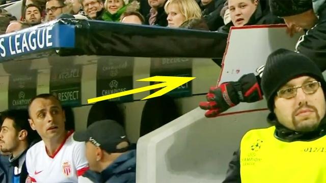 벤치에 나타난 팬을 마주하더니