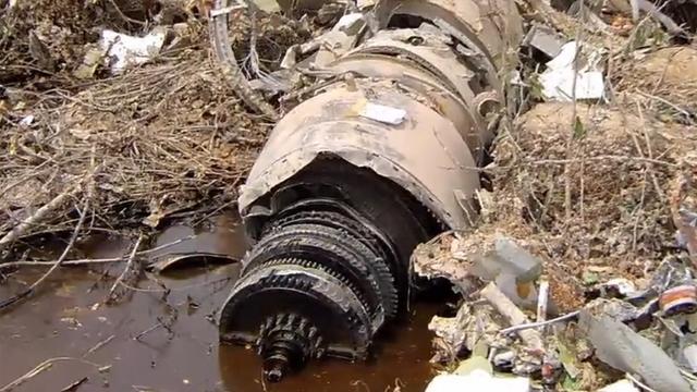 잔해만 남았던 끔찍한 항공 사고