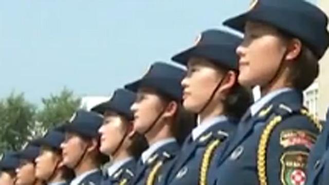 중국 열병식 눈길 가는 미녀군단