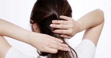 [셀프헤어] 간단하고 손쉬운 반 묶음 머리,세븐에비뉴