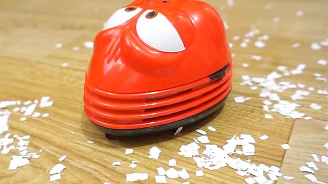 먼지 먹는 라바 장난감 청소기