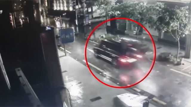 강인 교통사고 CCTV 영상 보니