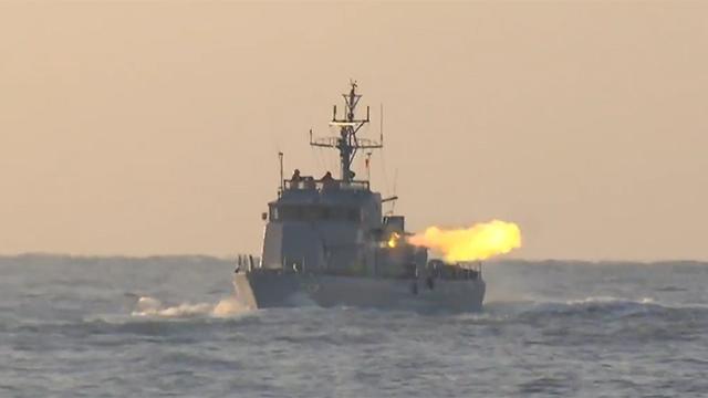 북한 선박 NLL 침범 경고사격