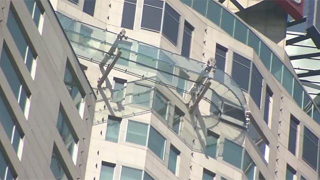 고층 건물 유리관 깜짝 놀랄 정체