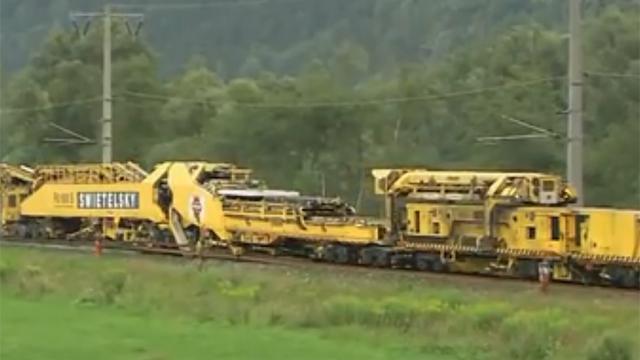 177미터 길이 철도 부설차량 헉