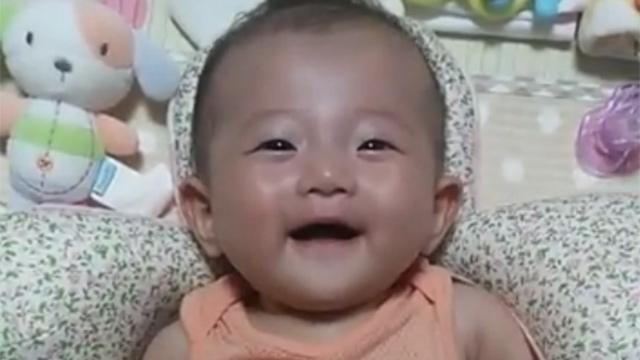 귀여운 아기 웃는 모습에 심쿵