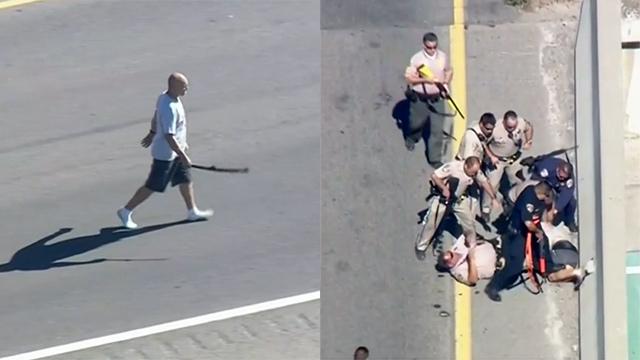 상상 초월한 무기에 경찰의 행동