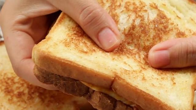 샌드위치 반으로 갈랐더니 대박
