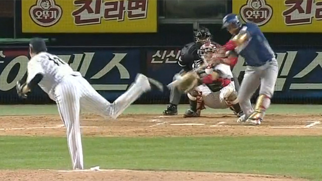 야구 보다가 정말 아찔했던 순간