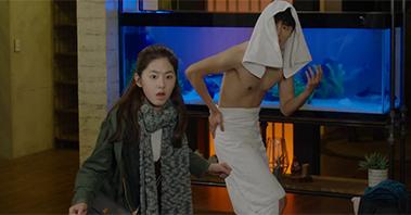 연우진 사각 속옷 노출과 몸개그 [내성적인 보스] 1회 20170109